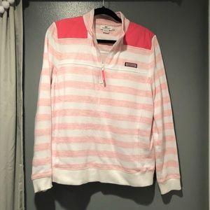 Vineyard Vines Shep Shirt Wmns Ht Pink Striped XL